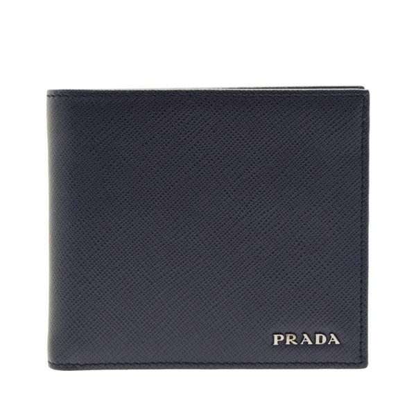 プラダ 財布 二つ折り財布 PRADA ショップ袋付き メンズ 2mo738sabi-bane-zz アウトレット