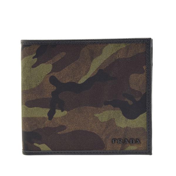 プラダ 財布 二つ折り PRADA メンズ カモフラージュ 2mo738tescam-mime 令和 記念
