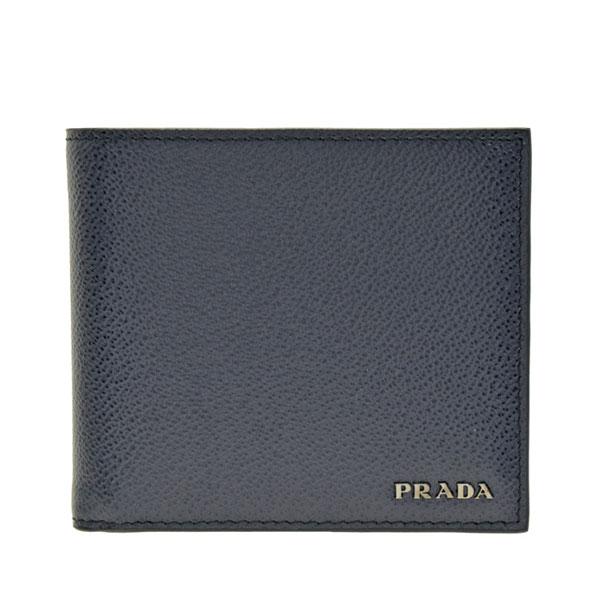 プラダ PRADA ショップ袋付き 二つ折り財布 メンズ アウトレット 2mo738vigb-bane-zz | さいふ サイフ ウォレット 財布 コンパクト かっこいい おしゃれ オシャレ 使いやすい ブランド