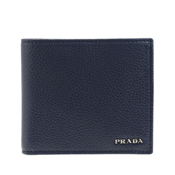 プラダ PRADA 二つ折り財布 メンズ アウトレット 2mo738vitgra-balt   ウォレット サイフ さいふ 財布 カード 収納 多い かっこいい オシャレ おしゃれ コンパクト 使いやすい ブランド 本革 春 令和 記念