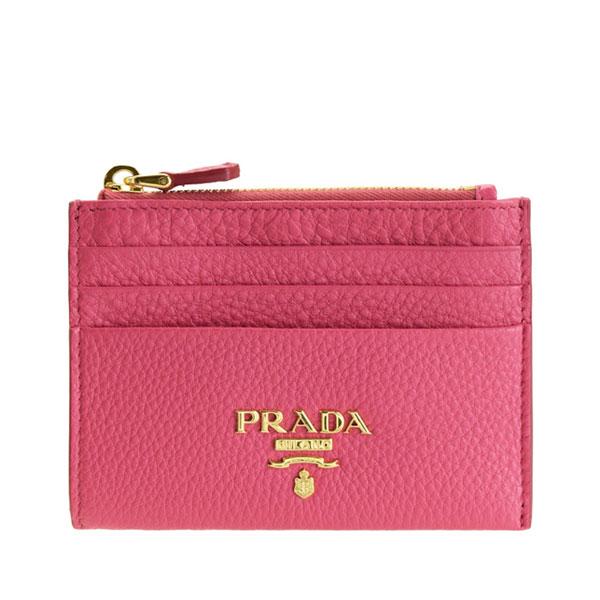 プラダ PRADA ショップ袋付き パスケース コインケース アウトレット 1mc026vigr-peon-zz | ICカード カード入れ ケース 小銭入れ コンパクト キャッシュレス オシャレ おしゃれ ブランド レディース 可愛い 薄型