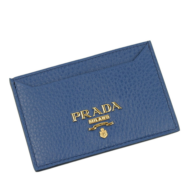 プラダ PRADA ショップ袋付き カードケース アウトレット 1mc208vigr-blue-zz | 定期入れ ICカード カード入れ ケース コンパクト かわいい 可愛い オシャレ おしゃれ ブランド