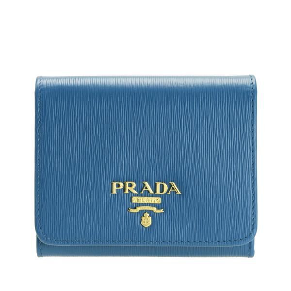 プラダ PRADA ショップ袋付き 三つ折り財布 アウトレット 1mh176vimo-coba-zz | さいふ サイフ ウォレット 財布 カード ミニ コンパクト 収納 オシャレ おしゃれ シンプル レディース ブランド レザー