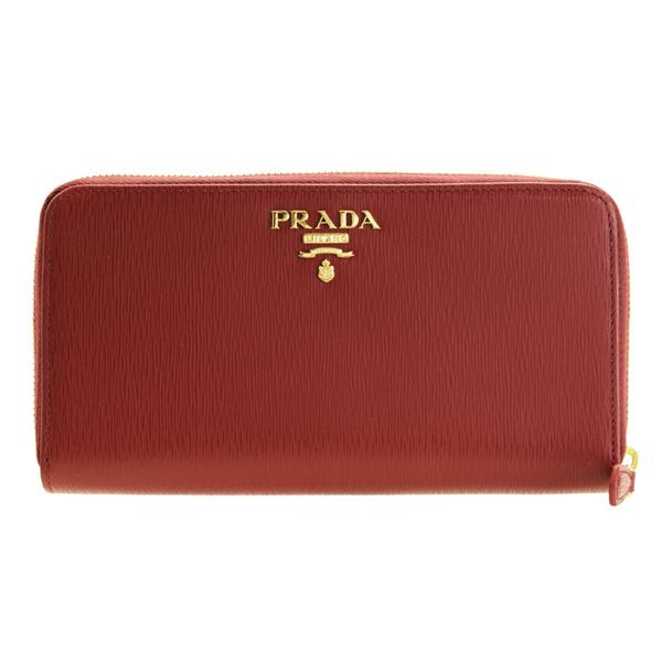 プラダ PRADA ショップ袋付き ラウンドファスナー長財布 アウトレット 1ml348vitmov-rubi | ウォレット サイフ さいふ 財布 小銭入れ カード入れ 多い レディース 可愛い 大人可愛い オシャレ おしゃれ ブランド レザー item715