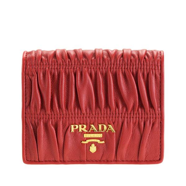 プラダ PRADA ショップ袋付き 二つ折り財布 ナッパ ゴーフル NAPPA GAUFRE アウトレット 1mv204naga-fuoc-zz | ウォレット サイフ 財布 ブランド カード入れ 多い 小銭入れ オシャレ レディース 可愛い