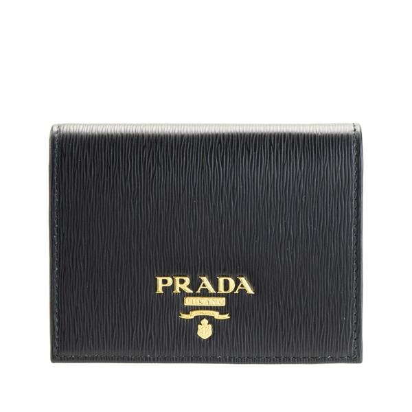 プラダ PRADA ショップ袋付き 二つ折り財布 アウトレット 1mv204vimb-nela-zz   さいふ サイフ ウォレット 財布 カード ミニ コンパクト 収納 オシャレ おしゃれ シンプル レディース ブランド レザー