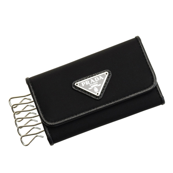 プラダ PRADA ショップ袋付き 6連キーケース メンズ アウトレット 1pg222tess-nero-zz | カギ 鍵 収納 6連 コンパクト かっこいい オシャレ おしゃれ ブランド レザー