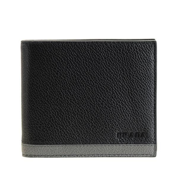 プラダ PRADA ショップ袋付き 二つ折り財布 メンズ アウトレット 2mo738viml-neme-zz   さいふ サイフ ウォレット 財布 ブランド財布 カード ミニ コンパクト 収納 多い 小銭入れ かっこいい オシャレ 使いやすい シンプル ブランド item715