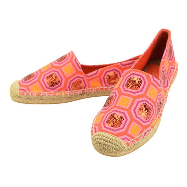 TORYBURCH 限定タイムセール トリーバーチ 靴 フラット 46765-672 シューズ ローカット 予約 おしゃれ ファッション 送料無料 オシャレ シンプル キャンバス ブランド