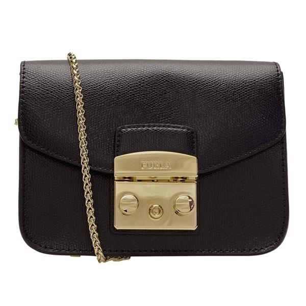フルラ FURLA 斜めがけショルダーバッグ メトロポリス ブラック/ONYX レザー 820676 アウトレット | 斜めがけ ショルダー バック バッグ 鞄 かばん かわいい 可愛い おしゃれ オシャレ レディース ブランド プレゼント ギフト 革