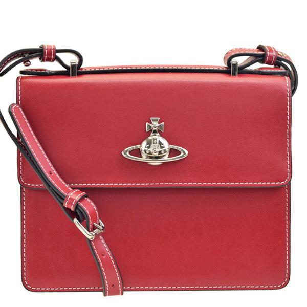 【スペシャルセール】ヴィヴィアン・ウエストウッド Vivienne Westwood 斜めがけショルダーバッグ ミニバッグ ポシェット ミニ 41010019-red | バッグ かばん 鞄 通勤 斜め掛け レディース 可愛い オシャレ おしゃれ ブランド 本革