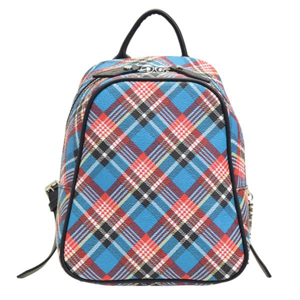 ヴィヴィアン・ウエストウッド Vivienne Westwood バッグ リュックサック バックパック チェック 格子柄 43010025-blue | バッグ かばん 鞄 通勤 レディース かわいい 可愛い オシャレ おしゃれ ブランド PVC 春 令和 記念