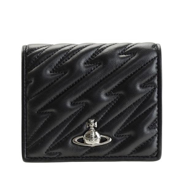 ヴィヴィアン・ウエストウッド Vivienne Westwood 二つ折り財布 51010024-black2   ウォレット サイフ さいふ 財布 ブランド財布 コンパクト レディース かわいい 可愛い オシャレ おしゃれ 使いやすい ブランド