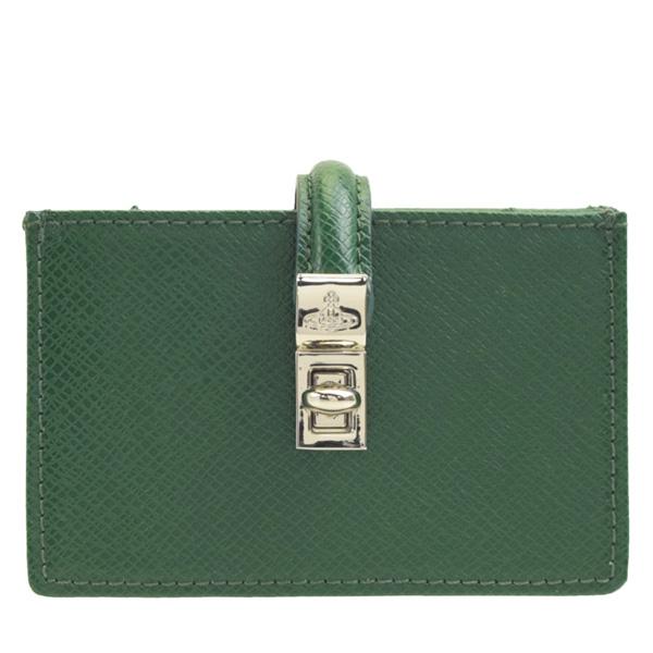 【マラソンセール】ヴィヴィアン・ウエストウッド Vivienne Westwood カードケース 名刺入れ 51110021-green | 定期入れ カード入れ ケース コンパクト かわいい 可愛い オシャレ おしゃれ ブランド 本革