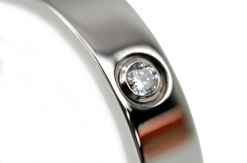 Cartier LOVE Collection Mini Lab ring 750 B4050500 WG 1 p diamond