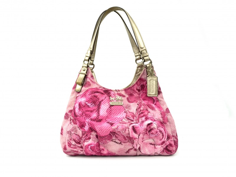 0f943133e2b6 ... where can i buy coach madison pink madison floral maggie shoulder bag  19642 49397 b727d
