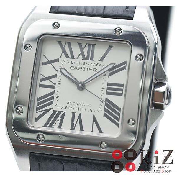 品質一番の Cartier SANTOS DE CARTIER White サントス 100 LM W20073X8【】, エバンジェリスト<evangelist> 6ea9e908