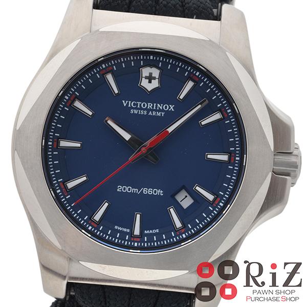 【値下げ品】【中古】 Selection (セレクション) Victorinox ビクトリノックス イノックス 時計 クオーツ/メンズ Blue 249105 unused:S