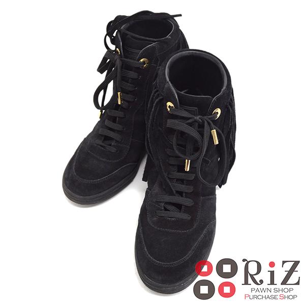 【中古】 LOUIS VUITTON (ルイヴィトン) ハイカット スニーカー 靴 靴/メンズ ブラック