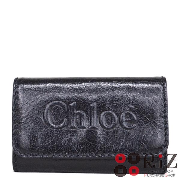 【値下げ品】【極上品】 CHLOE (クロエ) シャドウ 6連キーケース 小物 キーケース Black 3P0333 unused:S