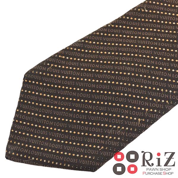 【中古】 LOUIS VUITTON (ルイヴィトン) ネクタイ 服飾 マフラー/スカーフ/ネクタイ Brown