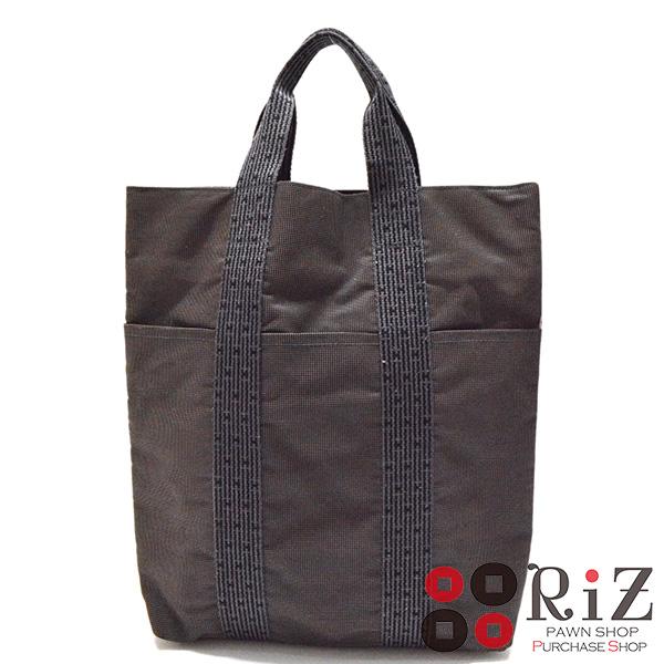 【中古】 HERMES (エルメス) エールライントート カバス バッグ ハンドバッグ Gray