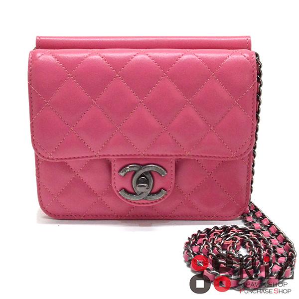 【6/22お値下げ品】 【中古】 CHANEL (シャネル) ミニマトラッセ チェーンショルダーバッグ バッグ ショルダー/メッセンジャーバッグ MATELLASE Pink used:B