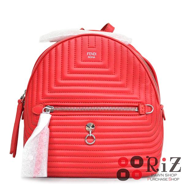【値下げ品】【未使用品】 FENDI (フェンディ) バッグパック バッグ リュックサック/デイパック Red 8BZ038 bnwt:N