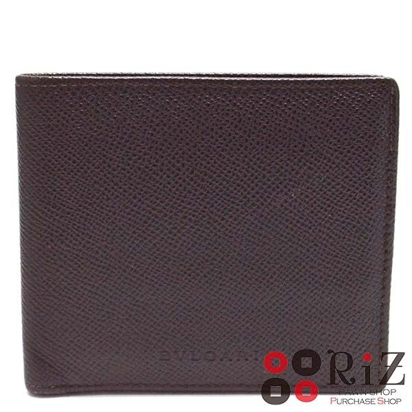 【最終値下げ品】【中古】BVLGARI (ブルガリ) 二つ折り財布 財布 二つ折り財布(小銭入有) Brown used:B