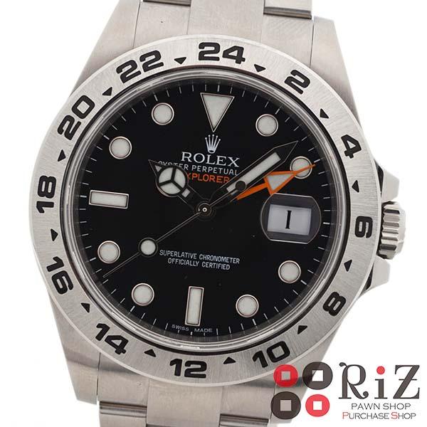 【6/23値下げ品】【中古】 ROLEX (ロレックス) エクスプローラー 時計 自動巻き/メンズ Black 216570 used:B