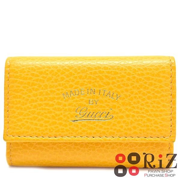 【中古】 GUCCI (グッチ) スウィング レザー 6連キーケース 小物 キーケース Swing Yellow 354499 B:中古品