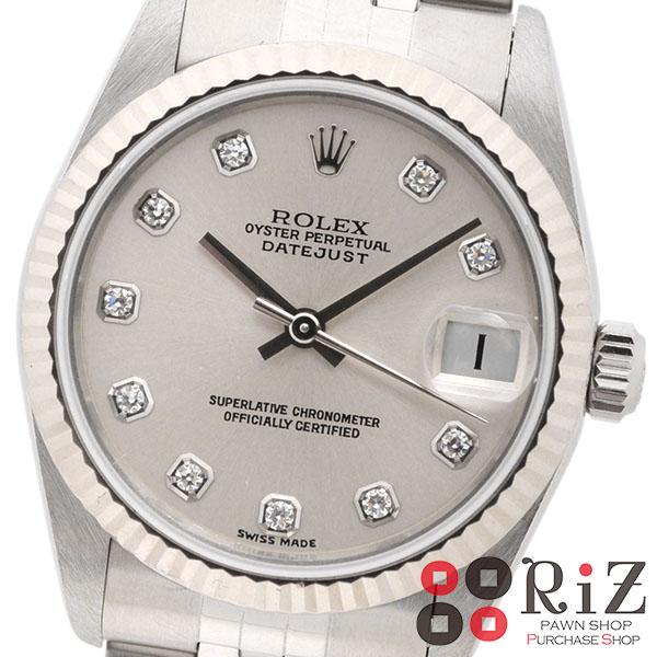 【美品】【中古】 ROLEX (ロレックス) デイトジャスト 時計 自動巻き/ボーイズ DATEJUST Silver/シルバー 78274G used:A