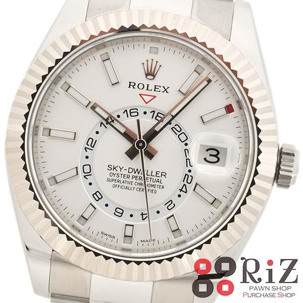 【中古】ROLEX (ロレックス) スカイドゥエラー 時計 自動巻き/メンズ SKY-DWELLER White 326934 unused:S 【サムライブルー応援価格】
