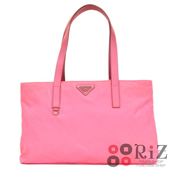 【6/23値下げ品】【中古】 PRADA (プラダ) ナイロントートバッグ バッグ トートバッグ Pink