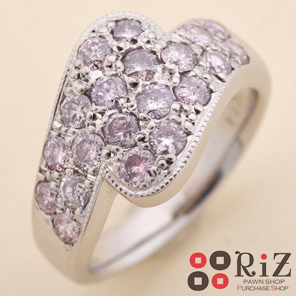【美品】【希少】【中古】 PT900 ピンクダイヤモンドリング ジュエリー 指輪