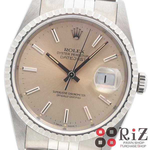 【中古】ROLEX (ロレックス) デイトジャスト 時計 自動巻き/メンズ Silver 16220 used:A 【スーパーSALE品】