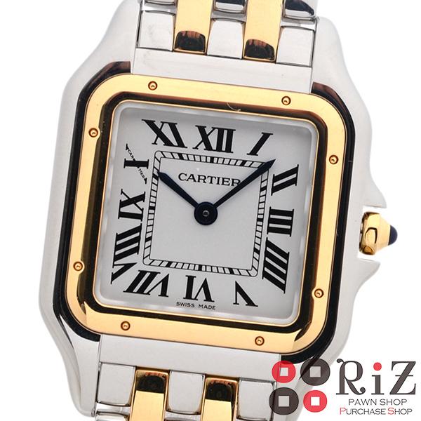 【中古】 Cartier (カルティエ) パンテールドゥ カルティエ 時計 クオーツ/レディース PANTH?RE DE CARTIER White W2PN0007 unused:S