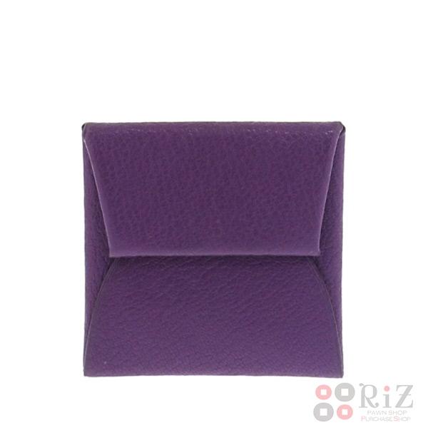 【中古】 HERMES (エルメス) バスティア 財布 小銭入れ/コインケース Purple 041054CK used:B