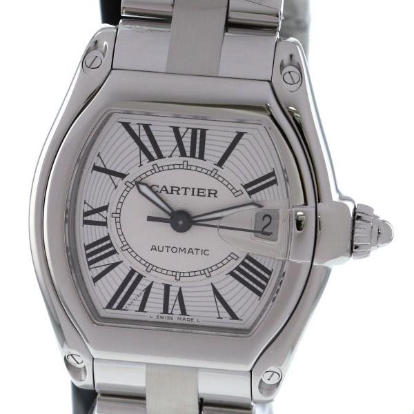 【美品】【中古】 Cartier (カルティエ) ロードスター LM 時計 自動巻き/メンズ Roadster Silver/シルバー W62025V3 used:A