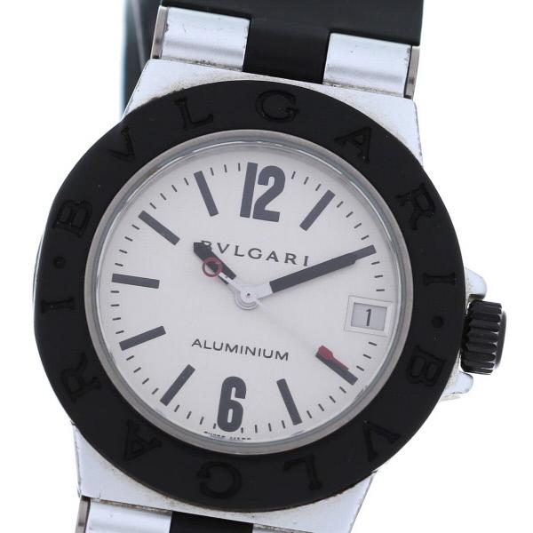 【中古】 BVLGARI (ブルガリ) アルミニウム 32mm 時計 クオーツ/ボーイズ ALUMINIUM Silver/シルバー AL32TA used:B
