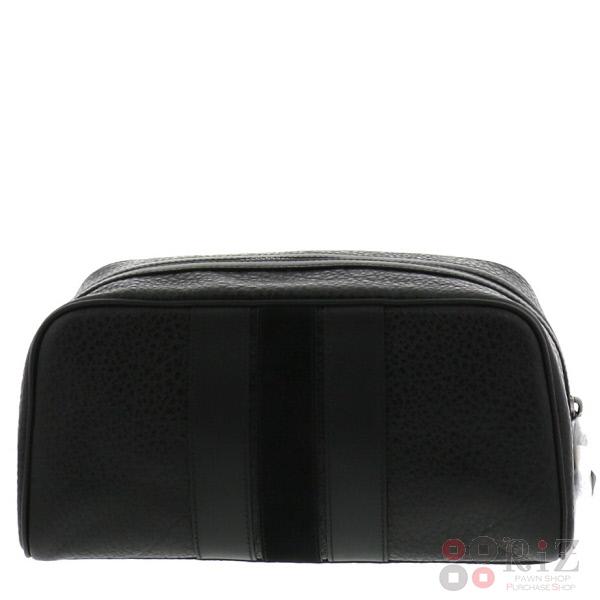 【中古】 COACH (コーチ) ヴァーシティストライプ セカンドバッグ バッグ セカンドバッグ/ポーチ/クラッチ Black F21387 bnwt:N