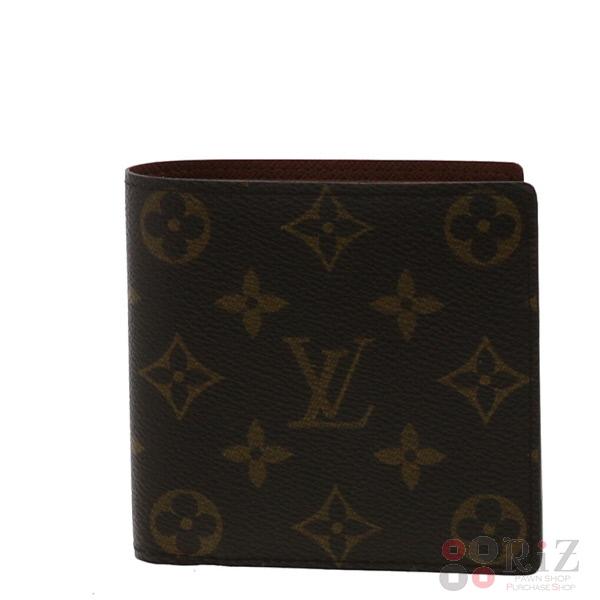 【中古】 LOUIS VUITTON (ルイヴィトン) ポルトビエ・カルトクレディモネ 財布 二つ折り財布(小銭入有) Monogram ブラウン M61665 used:A
