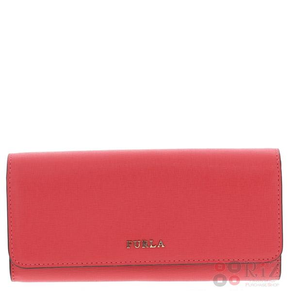 【中古】 FURLA (フルラ) 二つ折り長財布 財布 長財布(小銭入有) Pink