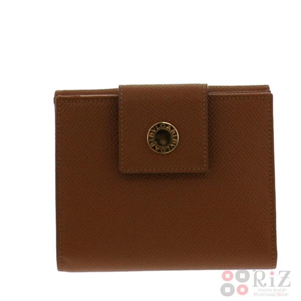 【即日発送】【美品】【中古】 BVLGARI (ブルガリ) Wホック 二つ折り財布 財布 二つ折り財布(小銭入有) Brown/ブラウン 20080 used:A