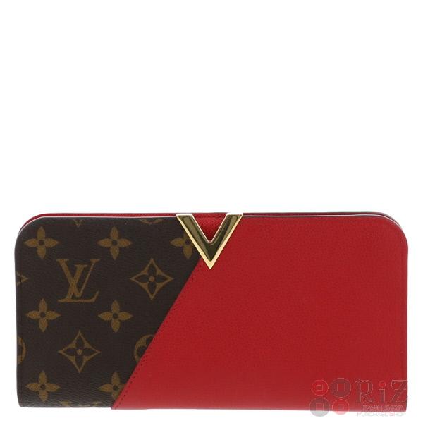 【即日発送】【ラッピング無料】【美品】【中古】 LOUIS VUITTON (ルイヴィトン) ポルトフォイユ・キモノ 財布 長財布(小銭入有) Monogram/Cerise Red/レッド M56174 used:A