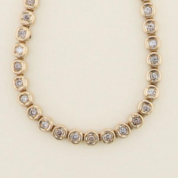 【中古】 K18YG ダイヤモンド 1.00ct テニスブレスレット ジュエリー ブレスレット/バングル/アンクレット