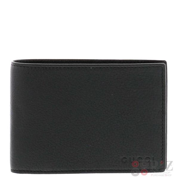 10 18最終値下げ品極上品GUCCIグッチ二つ折り財布 財布 二つ折り財布 小銭入有Black ブラックf7gyb6