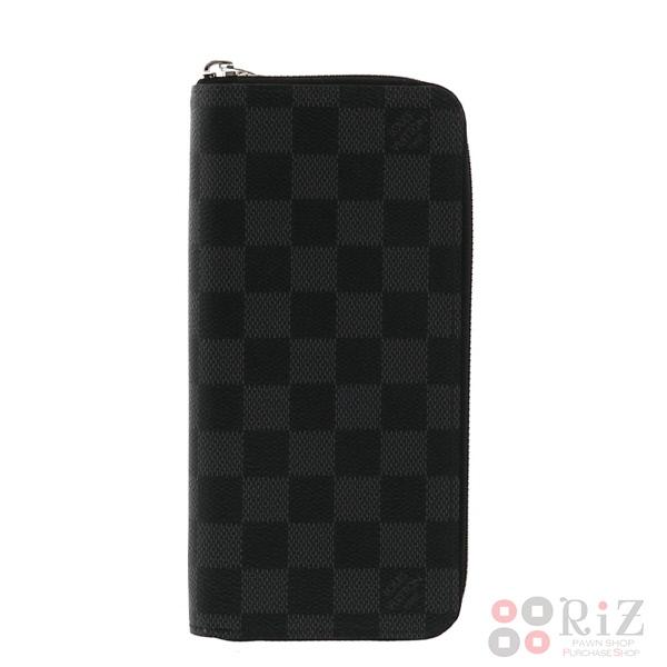 【中古】LOUIS VUITTON (ルイヴィトン) ジッピー・ウォレット ヴェルティカル 財布 長財布(小銭入有) Damier/Graphite Black N63095 bnwt:N