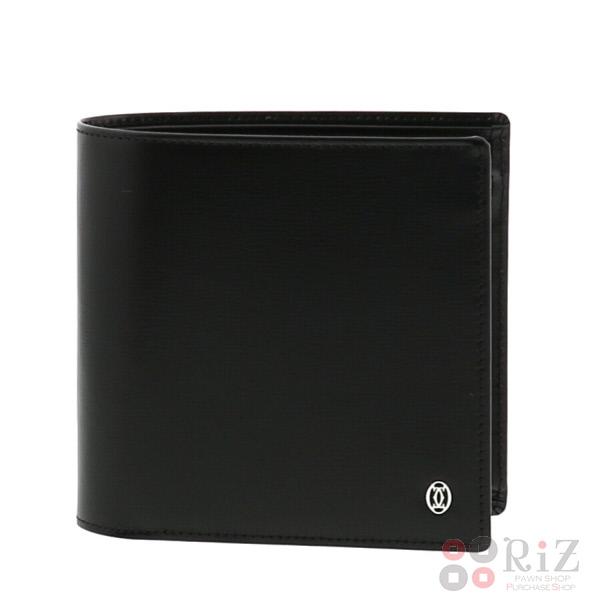 【中古】 Cartier (カルティエ) マスト 二つ折り財布 財布 二つ折り財布(小銭入有) Must Black L3000137 unused:S