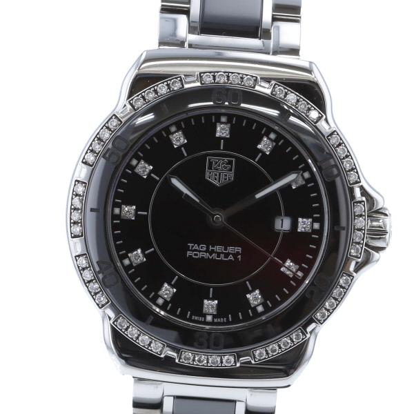 【3/17値下げ品】【中古】TAG HEUER (タグホイヤー) フォーミュラ1 レディ ダイヤモンド 時計 クオーツ/レディース Black WAH1312.BA0867 used:A